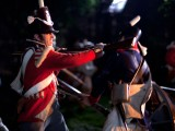 Musket butting the US Sentry